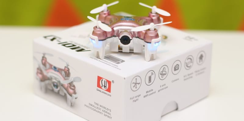НАЙ-МАЛКИЯ ДРОН С КАМЕРА CHEERSON CX-10W | Drones.bg