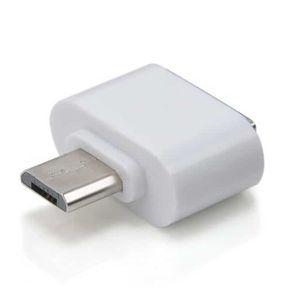 Micro USB Male към USB 2.0 Female адаптер бял