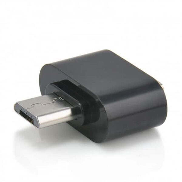 Micro USB Male към USB 2.0 Female адаптер черен