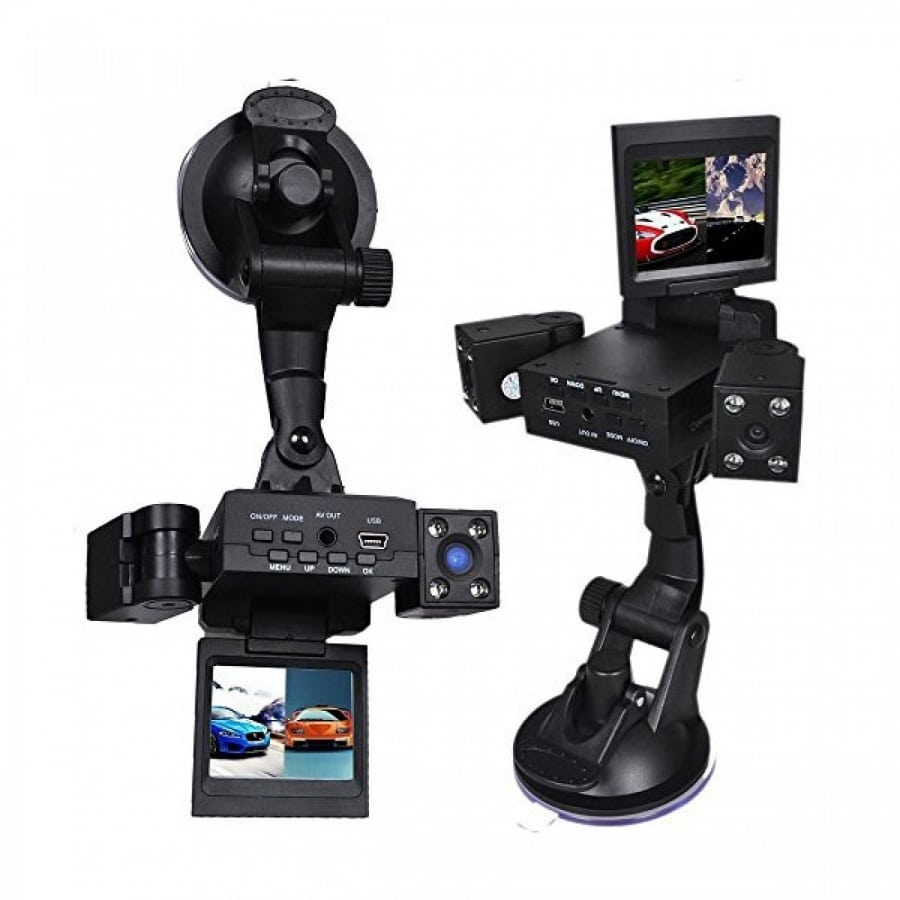 Видеорегистратор за кола с 2 камери и 2 инча дисплей