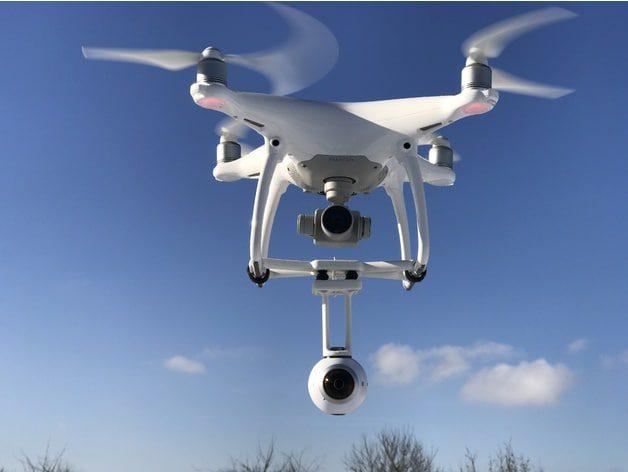 Стойка за монтаж на 360 градусова камера на дрон DJI Phantom 4
