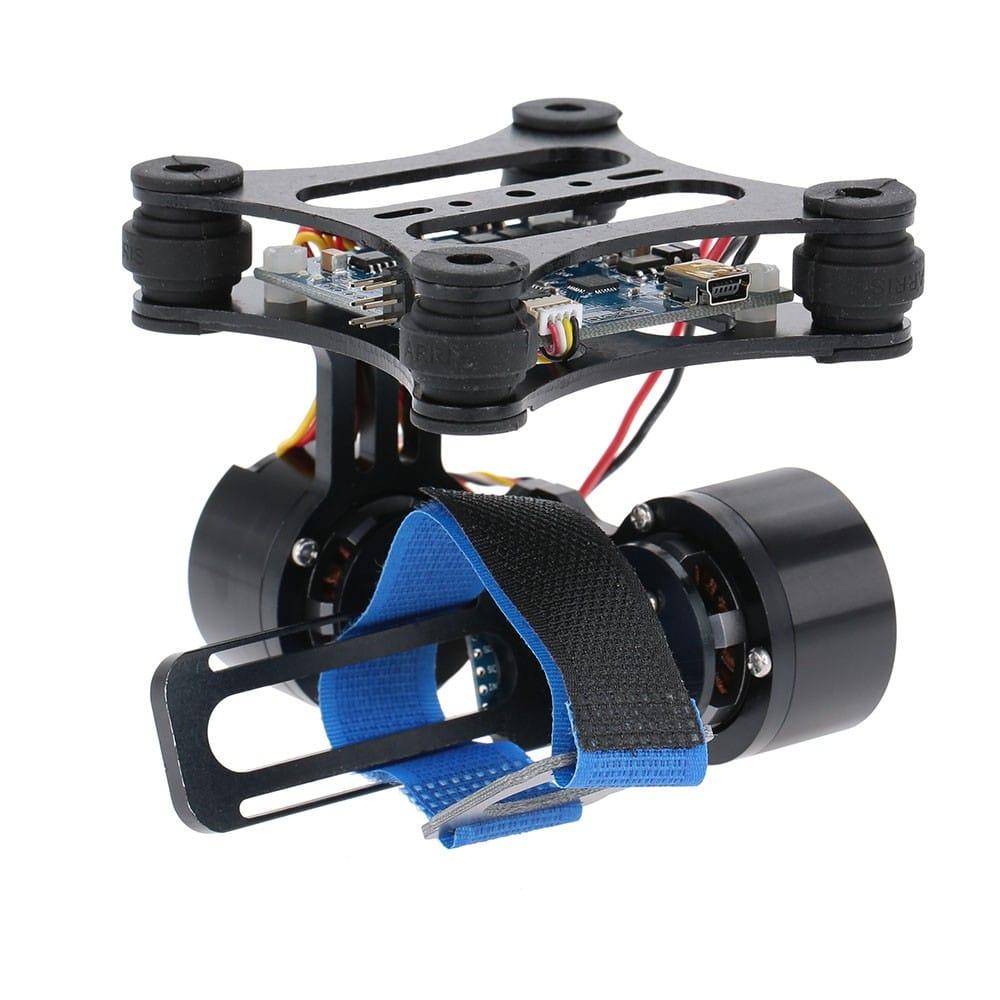 2-осна стабилизирана стойка за екшън камера готова за монтаж