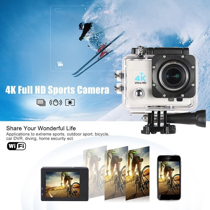 Drones.bg Екшън камера Andoer Q3H-R 4K