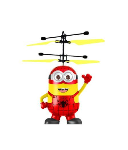 дрон летящ spider man