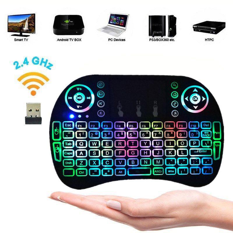 SmartZone.bg Мини клавиатура с тъчпад за смартфон/компютър/Smart телевизор