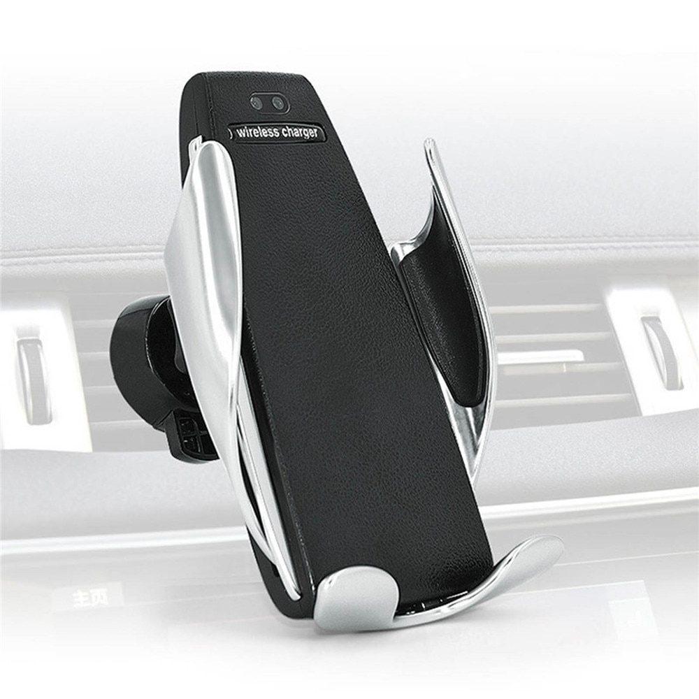 SmartZone.bg Автоматична стойка за смартфон за кола с безжично зареждане