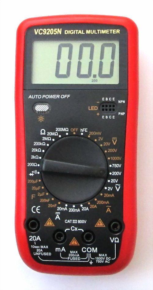 Дигитален Мултиметър (Мултицет) VC9205N