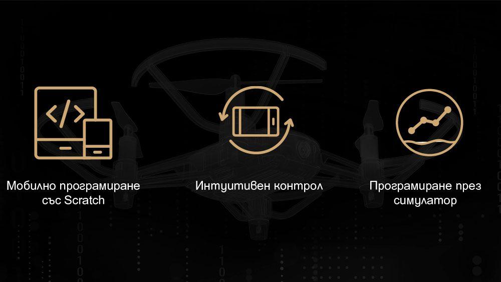Drones.bg Дрон DJI Tello IRON MAN Edition