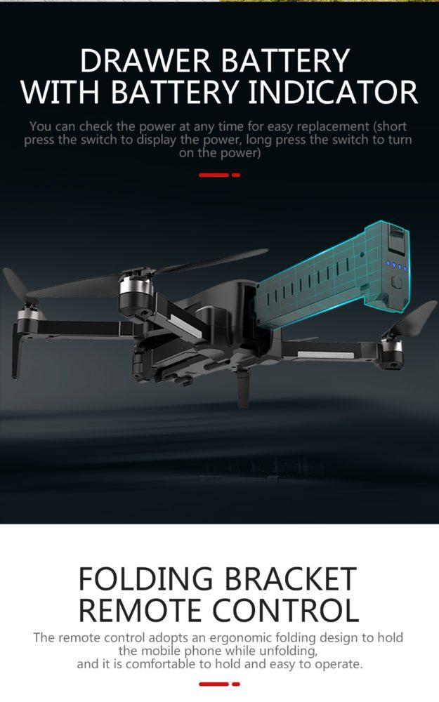 Drones.bg Дрон SJRC X193 GPS 4K камера/безчеткови мотори/25мин. полет