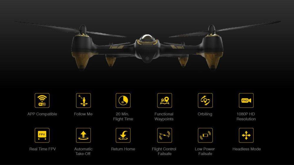 Drones.bg Дрон Hubsan X4 H501A Air Pro + HT011A контролер