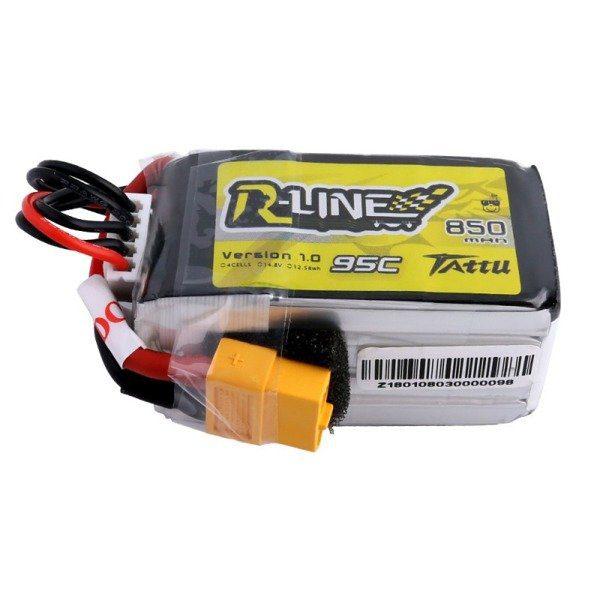 Drones.bg Батерия Tattu R-Line 850mAh 14.8V 95C 4S1P