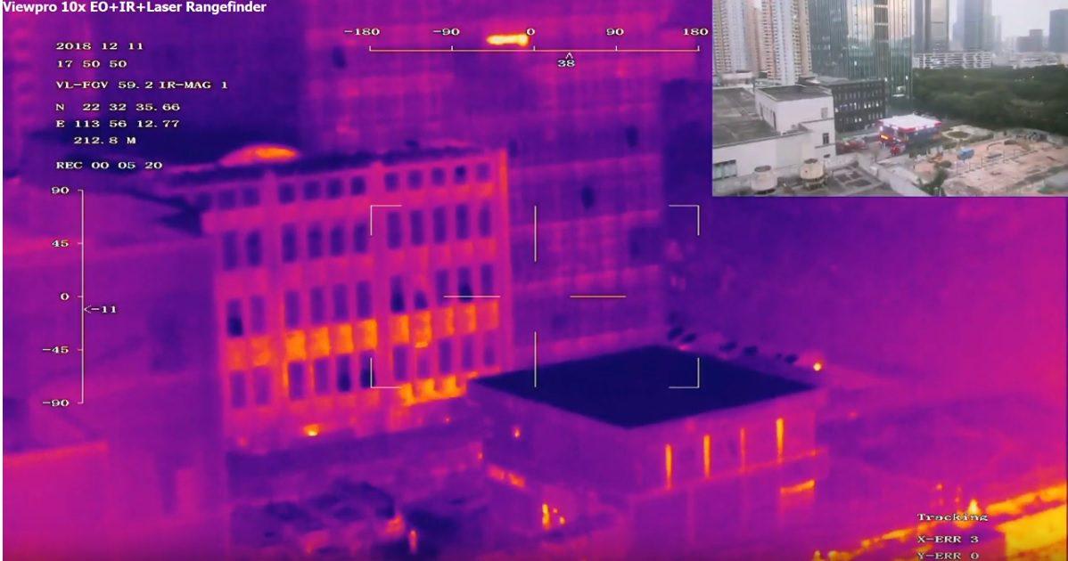 Професионална камера с 10X zoom, термовизия и геолокация Viewpro WK10TIRM