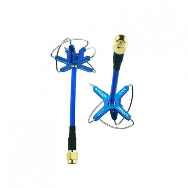 Drones.bg Комплект антени Aomway 3.3GHz Clover RHCP SMA