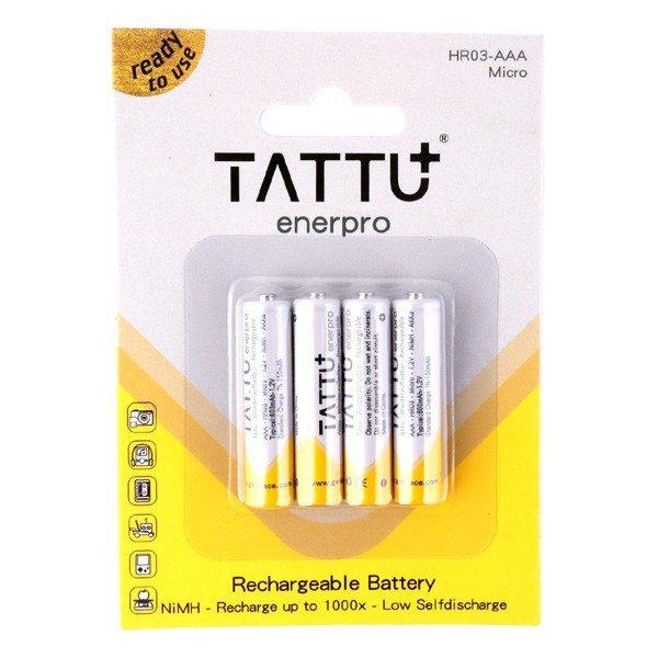 Презареждаеми батерии NiMH Tattu 800mAh 1.2V LR03 / AAA