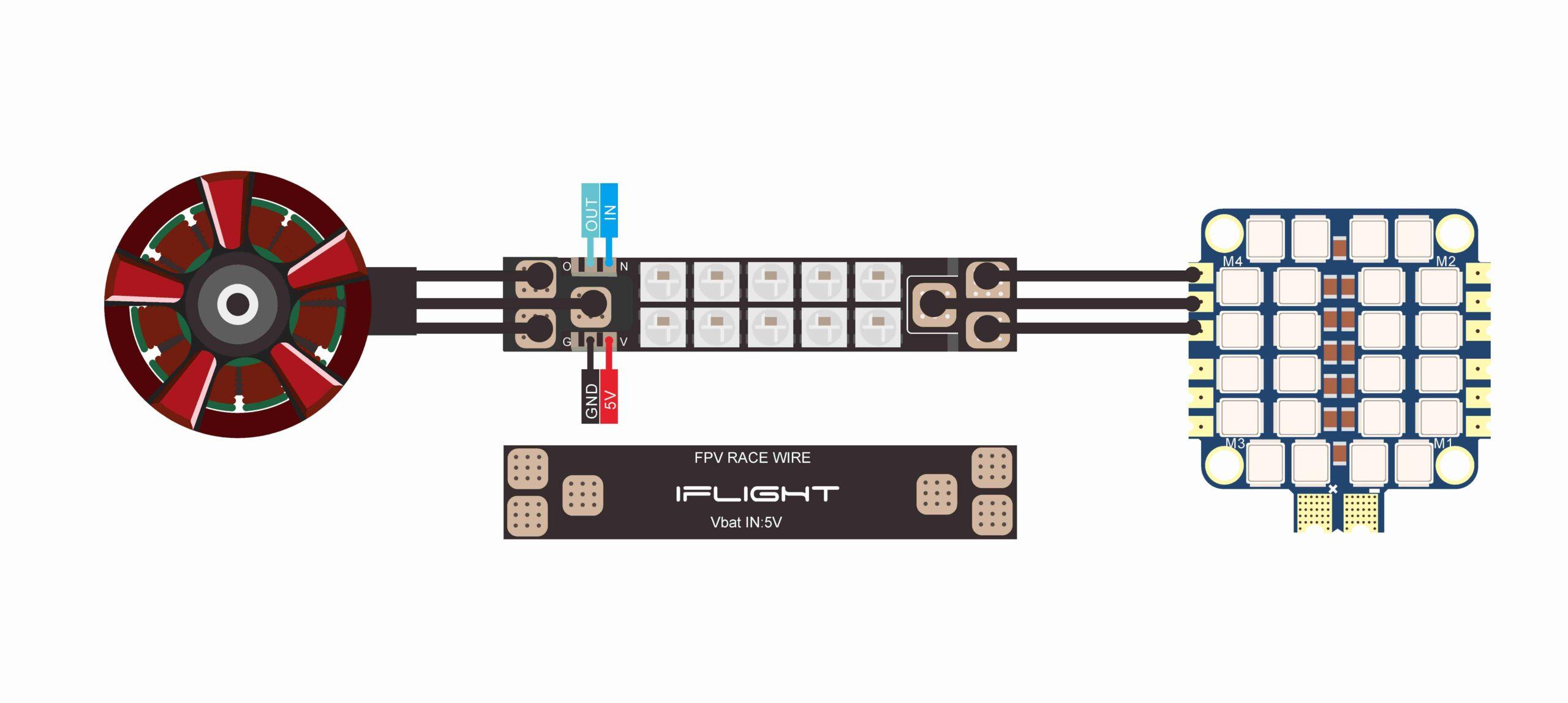 RGB LED лента за рейсинг дрон 3535- комплект 4 бр.
