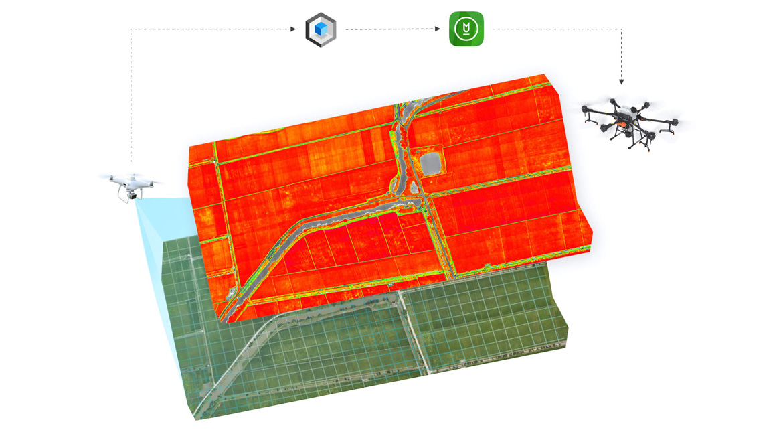 Селскостопански дрон DJI Agras T20 с 1 батерия и зарядно устройство