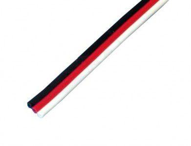 Drones.bg Троен плосък серво кабел Futaba, 26AWG / 0.33mm2 (1m)