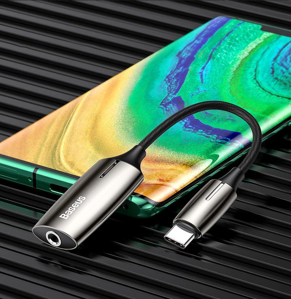 USB-C към USB-C & 3.5mm адаптер BASEUS