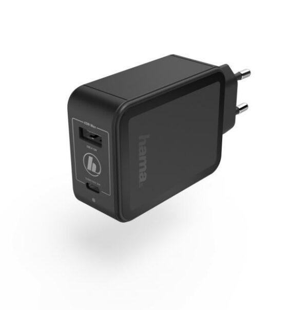 Зарядно 220V Power Delivery (PD) / Qualcomm® USB-C + USB-A, 42W, Черен
