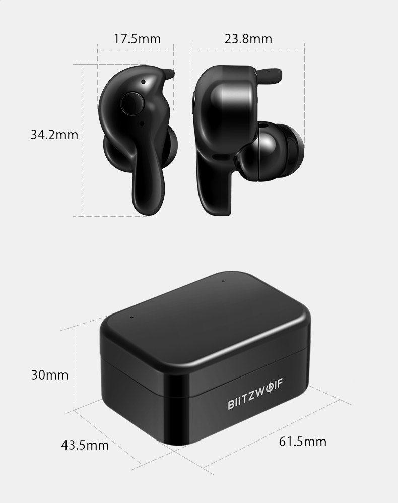 Безжични слушалки Blitzwolf BW-FYE1 Bluetooth 5.0 (бяло)