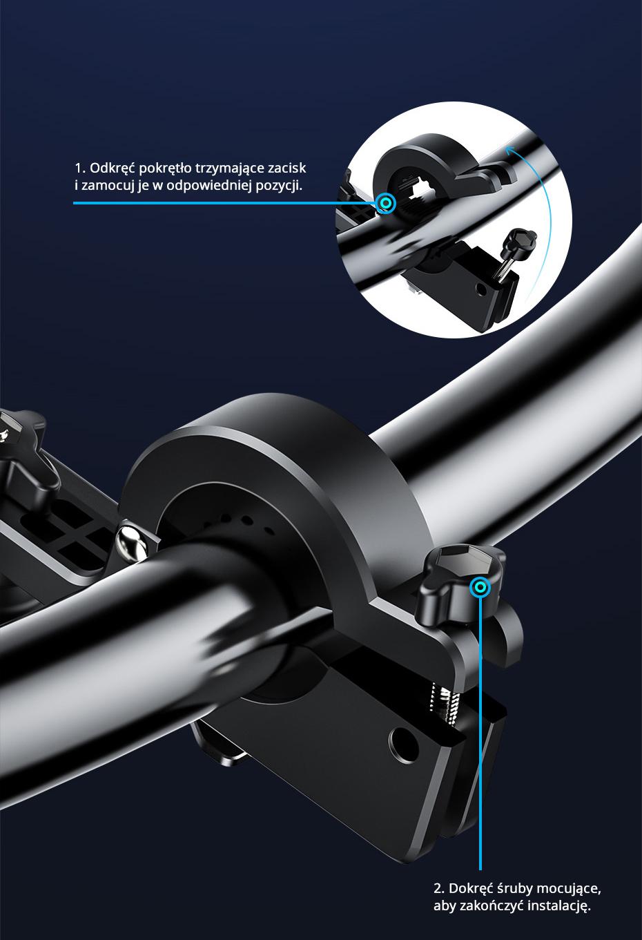 Стойка за смартфон за мотоциклети/велосипеди Baseus Knight