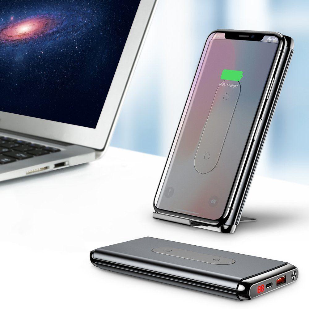 Преносима батерия с безжично зареждане Baseus 10000mAh