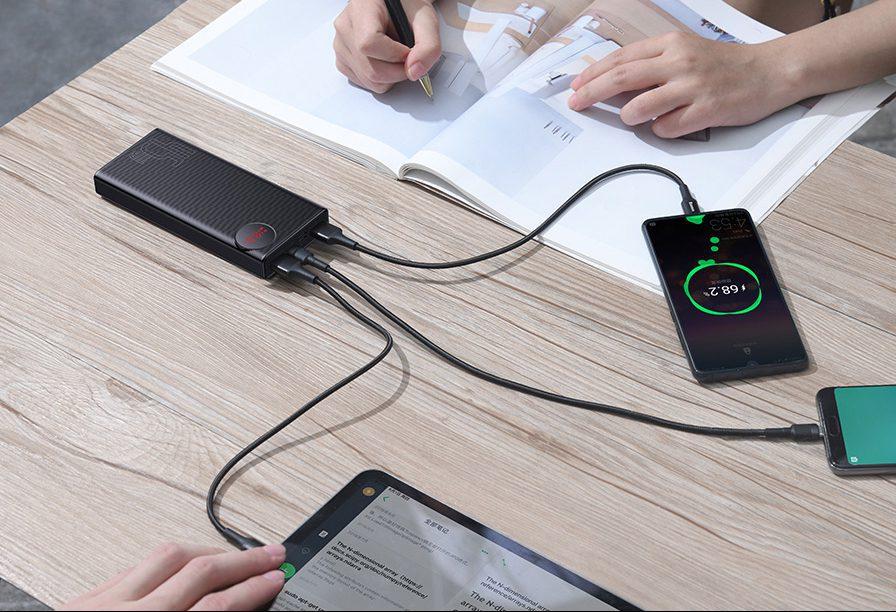 Преносима батерия с дисплей и бързо зареждане Baseus Mulight 45W 20000mAh
