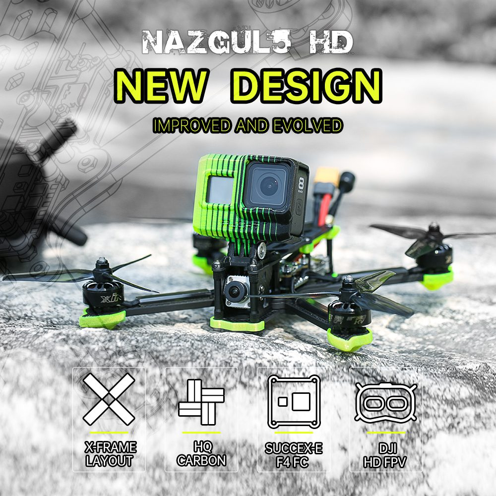 Nazgul5 HD с Nebula Nano HD система BNF + DJI FPV Goggles V2