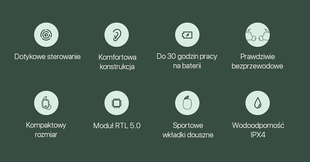 Безжични слушали QCY T1 Pro TWS Bluetooth 5.0