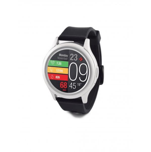 Смарт часовник MyKronoz ZeRound3, AMOLED тъч цветен екран сребрист