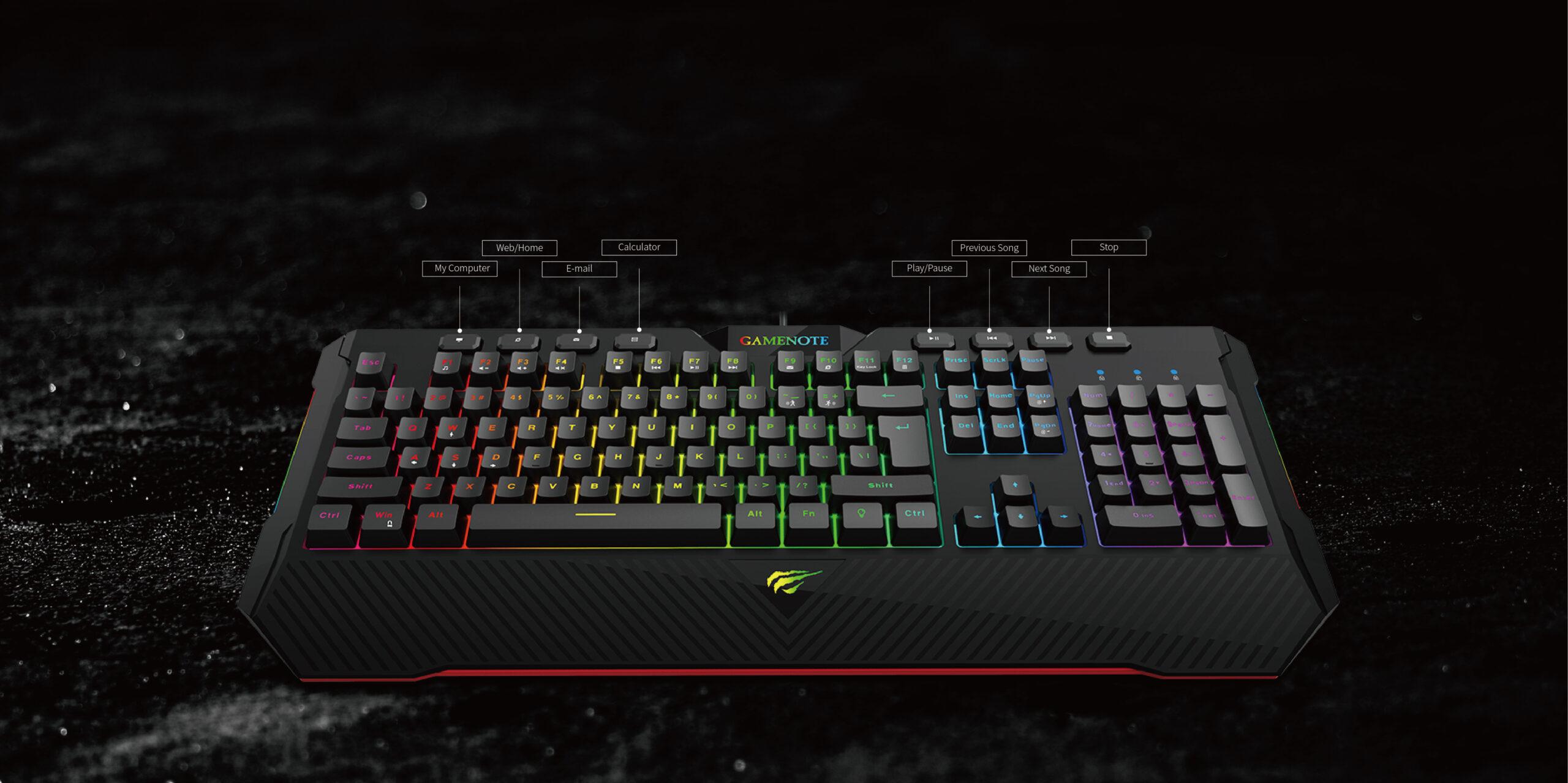 Drones.bg Полумеханична клавиатура Havit KB486L