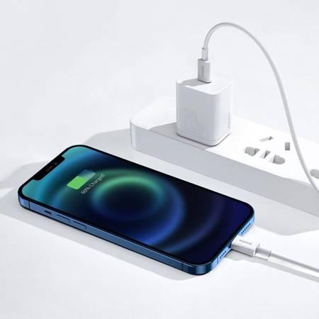 USB кабел Superior Series, Baseus USB-C към Lightning, 20W, PD, 25см (бял)