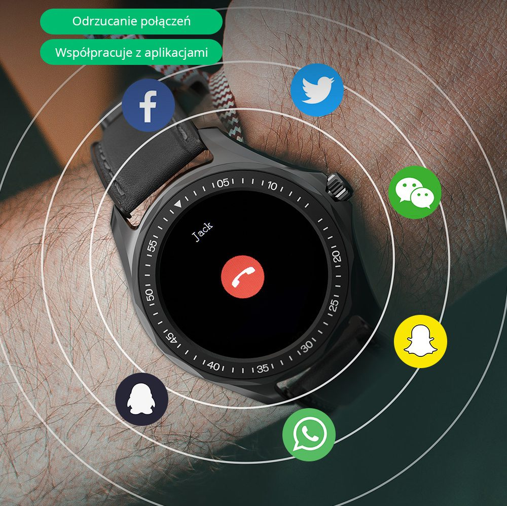 Смарт часовник Blitz Wolf BW-HL3 Bluetooth V5.0 (черен)