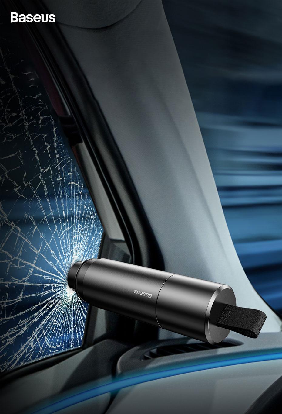 Drones.bg Аварийно чукче Baseus Sharp Tool Safety Hammer ( чупене на стъкло + рязане на колан)