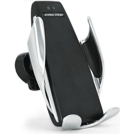 Drones.bg Автоматична стойка за смартфон за кола с безжично зареждане
