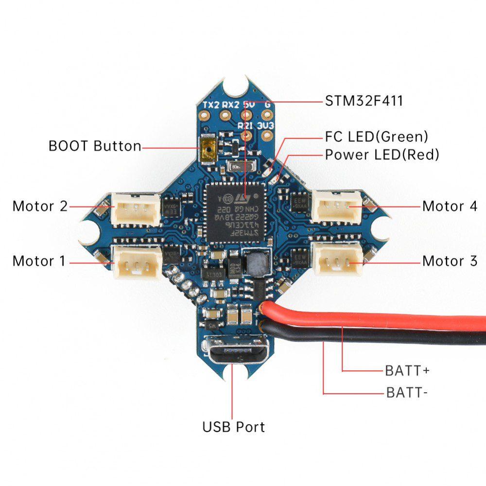 FC + ESC + VTX SucceX F4 V1.1 1S 5A (MPU6000)