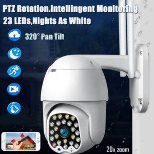 Водоустойчива външна камера WIFI PTZ 17LED