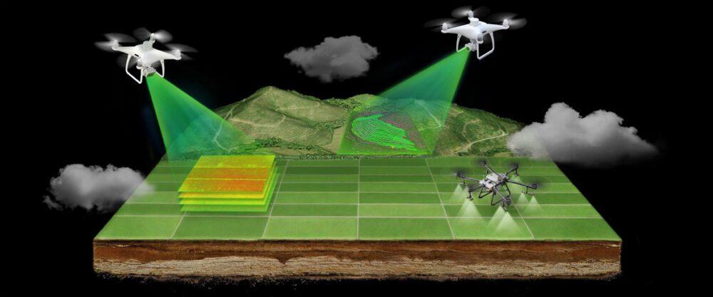 Селскостопански дрон DJI Agras T30 Combo с 4 батерии и зарядно устройство